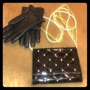 Jill Stuart - black patent leather bag